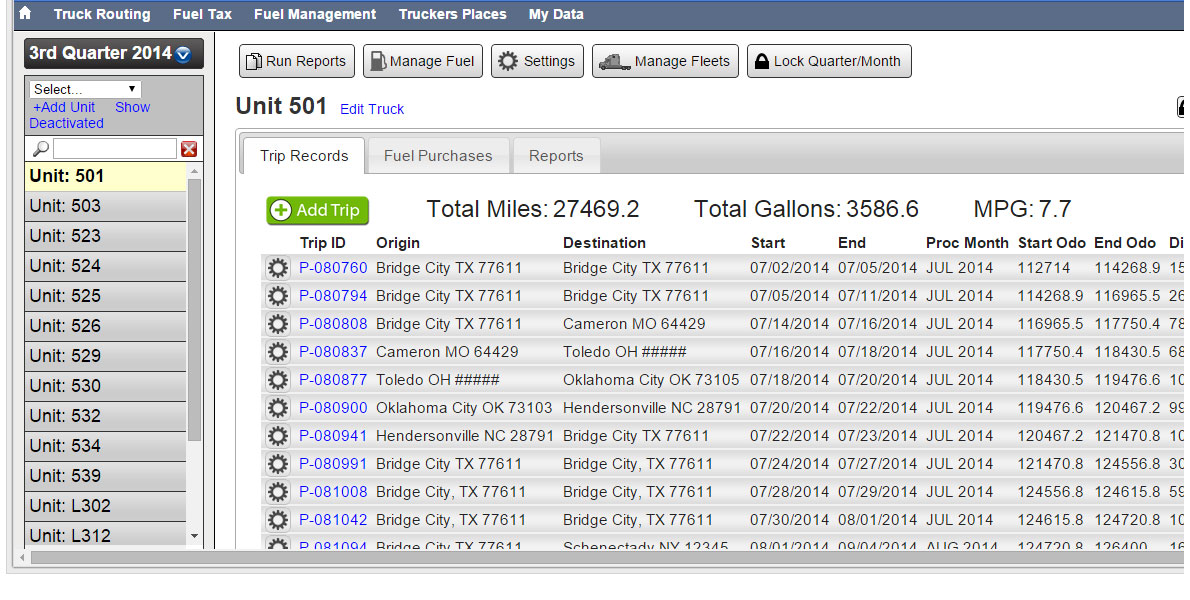 Eagle Wireless provides ProMiles automated Web-based Fuel Tax Info systems, including reports.
